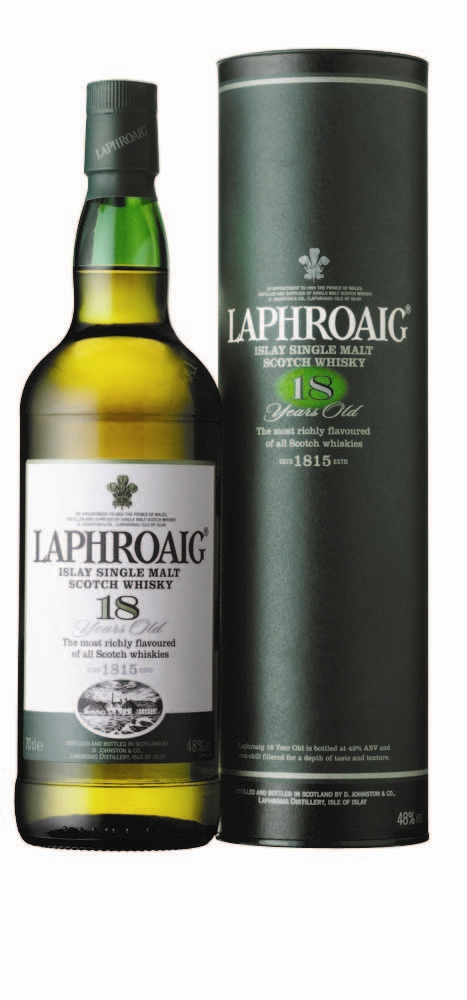 Laphroaig Introduces Rare 18 Year Old Expression Exclusively